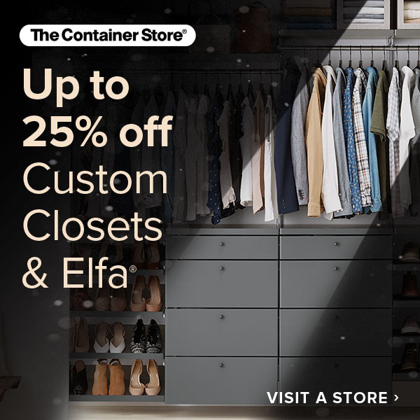 Custom Closets sale at The Container Store