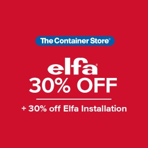 Image of the Container Store Elfa 30% OFF Sale Offer