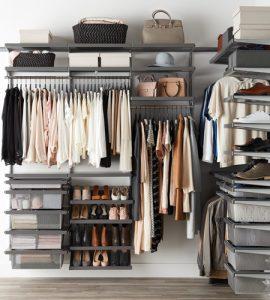 Image of an organized closet
