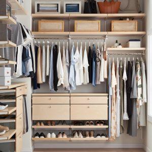 Image of organized closet