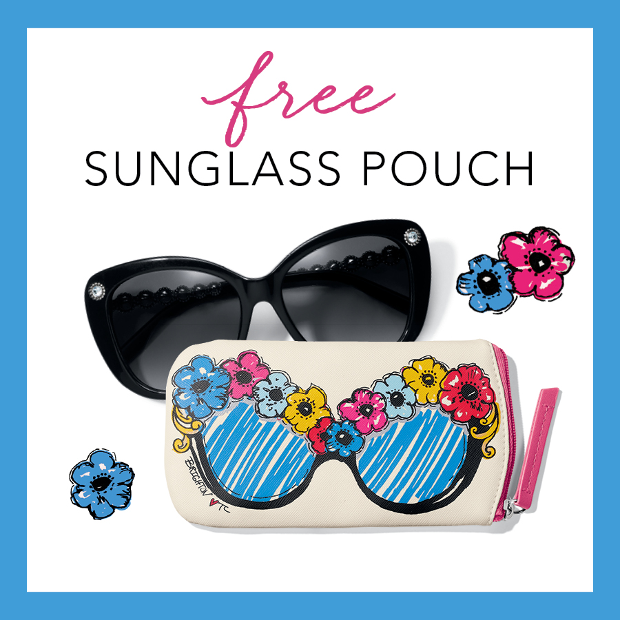FREE BRIGHT EYES Sunglass Pouch with sunglass purchase at Brighton
