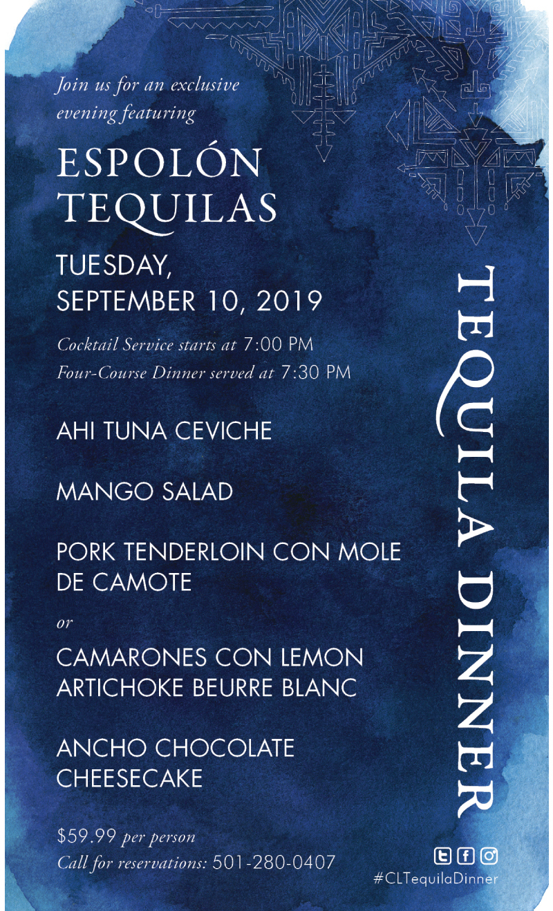 Cantina Laredo's Tequila Dinner offering
